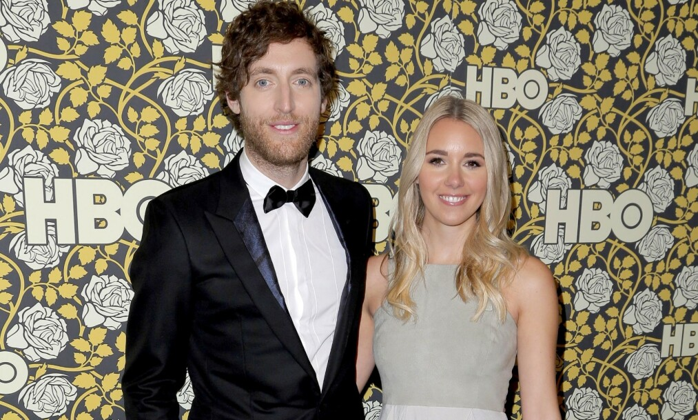 SKILLES: Etter fem år som mann og kone går Thomas Middleditch og kona Mollie Gates hver til sitt. Foto: NTB Scanpix