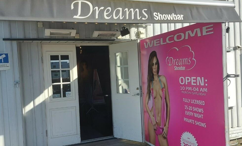 STRIPPEKLUBB: Dreams Showbar i Trondheim står i fare for å miste skjenkebevillingen sin. Foto: Privat