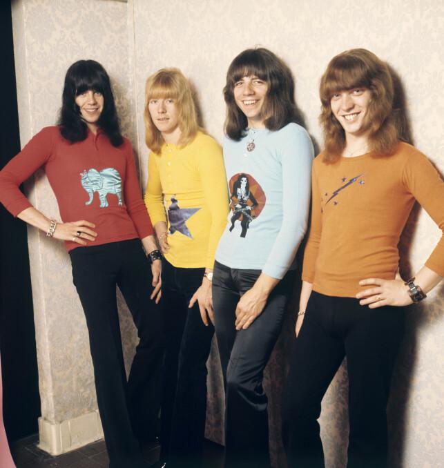 SWEET: Her er Andy Scott, Brian Connolly, Mick Tucker og Steve Priest avbildet i 1971. Foto: NTB Scanpix