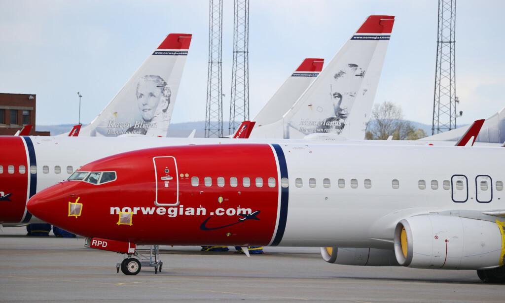 BORTE: 97,8 prosent færre passasjerer for Norwegian i mai enn samme måned i gjor. Foto: NTB scanpix