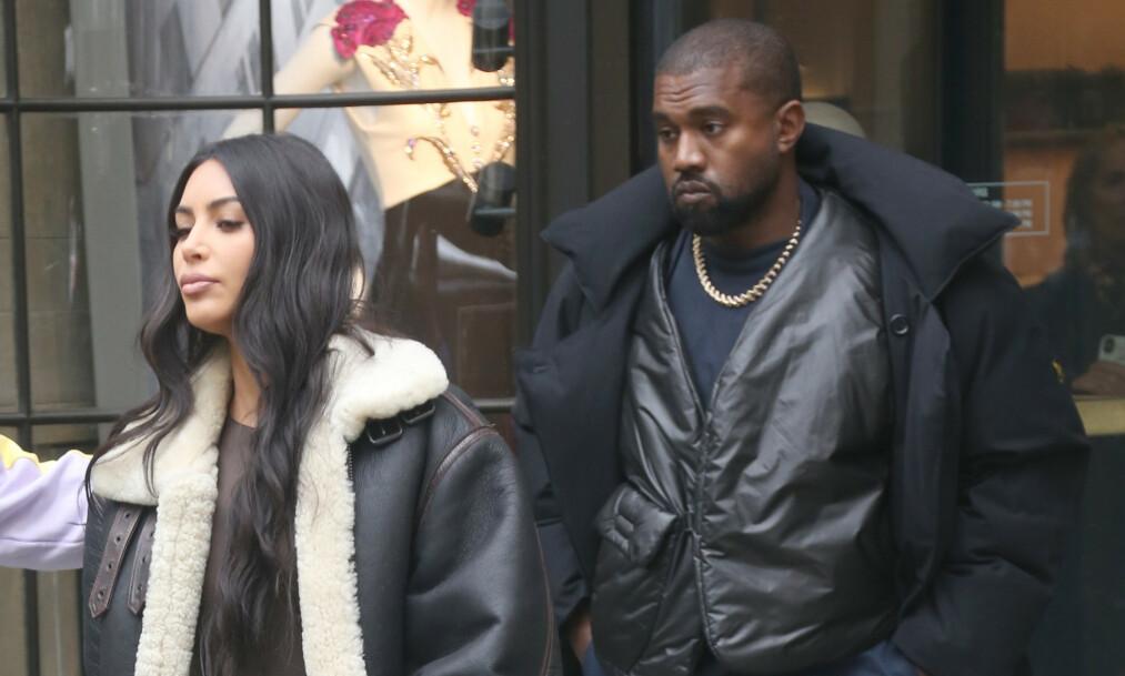 TRØBBEL I EKTESKAPET?: Kim Kardashian West vurderer angivelig å tilbringe tid borte fra ektemannen Kanye West som følge av problemene de skal ha stått overfor den siste tiden. Foto: NTB Scanpix