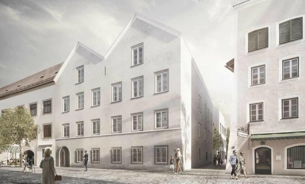 POLITISTASJON: Slik skal politstasjonen som erstatter huset hvor Adolf Hitler ble født se ut. Foto: Marte.Marte/AP.