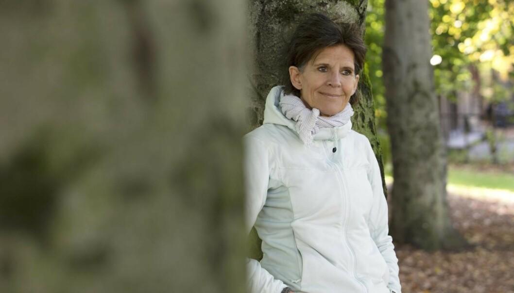 Trening og friluftsliv gir Marit mye glede. – Fysisk aktivitet er smertestillende for meg, forteller Marit, som fikk påvist leddgikt, osteoporose, artrose, Sjøgrens syndrom og fibromyalgi etter kreften for 20 år siden. Foto: Ellen Jarli