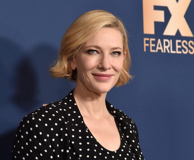 MOTORSAGULYKKE: Blanchett kom heldigvis helskinnet fra ulykken. Foto: NTB Scanpix