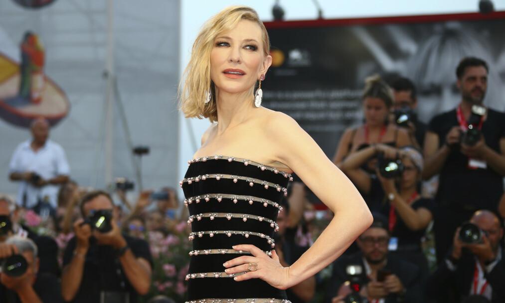 ULYKKESFUGL: I et nytt intervju avslører skuespiller Cate Blanchett at hun nylig klarte å kutte seg i hodet med en motorsag. Foto: NTB Scanpix
