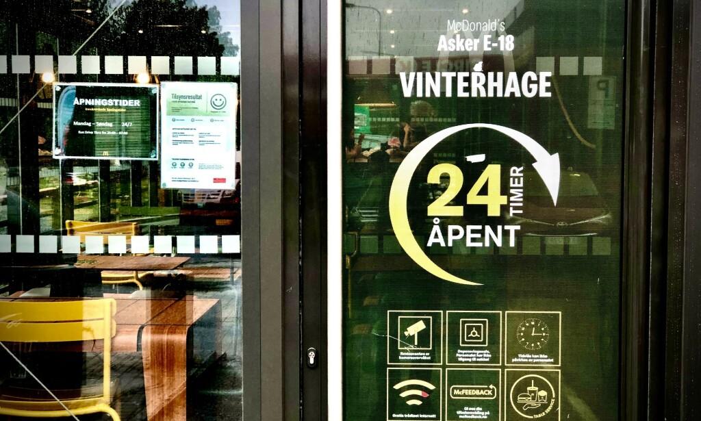MÅTTE STENGE: Den døgnåpne restauranten måtte stenge i flere timer for desinfisering. Foto: Bjørn Langsem / Dagbladet