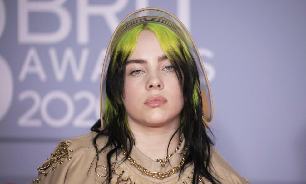 ÅPEN: Grammy-vinner Billie Ellish er åpen om eget kjærlighetsliv. Foto: Vianney Le Caer/Invision/AP/NTB Scanpix