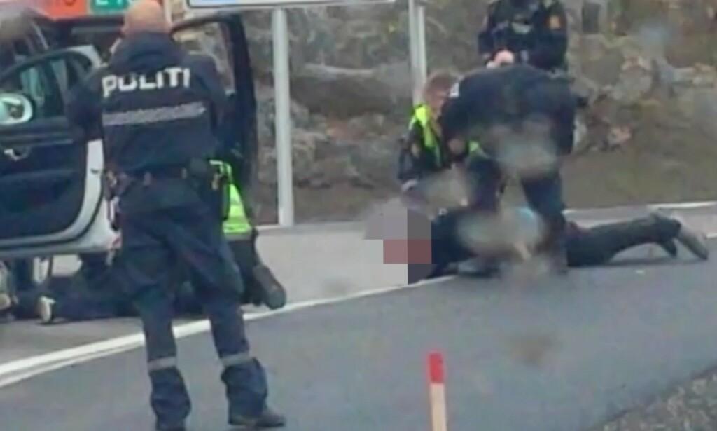 AKSJON: Her blir begge mennene pågrepet. Foto: DBTV-tipser