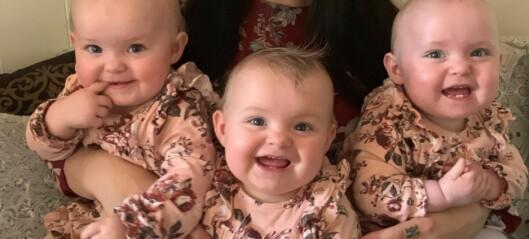 Sanne mistet fem barn i magen - nå har hun trillinger!