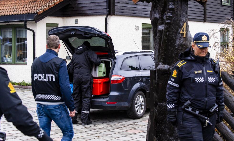 ÅSTED: Politiet mener Anne-Elisabeth Hagen ble drept i sitt hjem i Sloraveien på Fjellhamar. Foto: Lars Eivind Bones / Dagbladet
