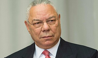 STEMMER BIDEN: Republikaneren Colin Powell. Foto: Jim WATSON / AFP