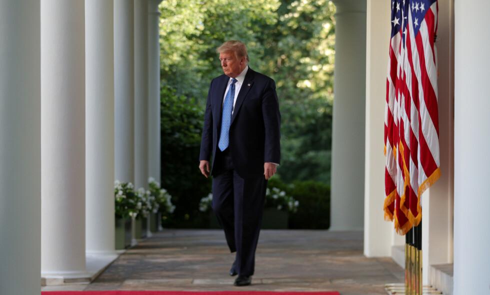 VALGET: President Donald Trumps egne kampanjerådgivere frykter angivelig for gjenvalget, og kritikken hagler etter Trumps håndtering av coronapandemien og demonstrasjonene som har preget landet de siste ukene. Foto: Reuters / Tom Brenner