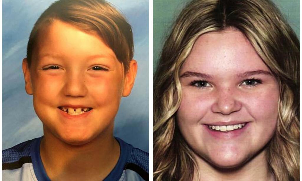 SAVNET: Joshua JJ Vallow (8) og Tylee Ryan (17) ble sist sett i september. Nå har politiet funnet likrester på eiendommen til stefaren. Foto: National Center for Missing & Exploited Children via AP, File
