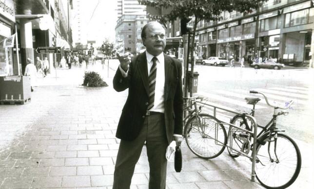 LANSERES SOM DRAPSMANN: Stig Engström, kjent som Skandia-mannen siden han jobbet for firmaet Skandia like ved drapsåstedet, har blitt pekt ut som Olof Palmes drapsmann. Foto: Weine Lexius /Expressen
