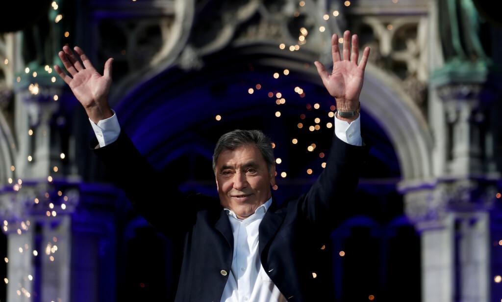 JUBILERER: Legenden Eddy Merckx fyller 75 år. Det er god grunn til å jubilere skikkelig for den populære sykkellegenden. Foto: NTB Scanpix