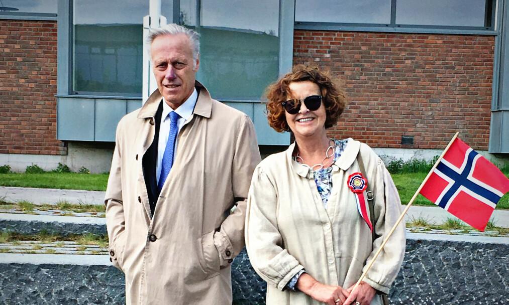 EKTEPAR: Tom Hagen og Anne-Elisabeth var gift i 49 år før hun forsvant. Nå er han siktet for drap, men nekter straffskyld. Foto: Privat