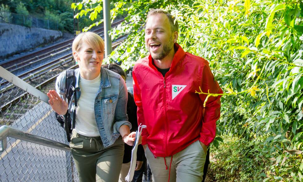 INGEN BOKSEHANSKER: Finanspolitisk talsperson Kari Elisabeth Kaski og partileder Audun Lysbakken er noen feiginger, ifølge Venstre og Ketil Kjenseth. Foto: Foto: Audun Braastad / NTB Scanpix