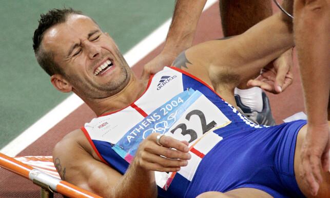 REKORDINNEHAVER: Chris Rawlinson har den gjeldende rekorden på 300 meter hekk. Tida er 34,48. Foto: NTB scanpix