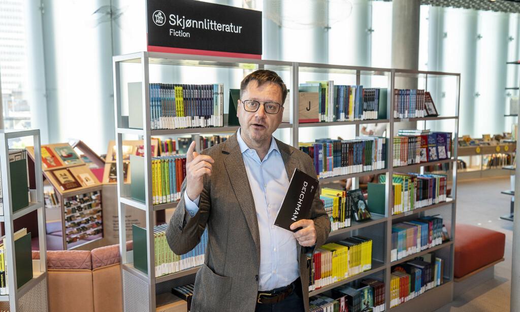 SJEF: Biblioteksjef for Deichman Knut Skansen viste pressen rundt. Foto: Hans Arne Vedlog / Dagbladet