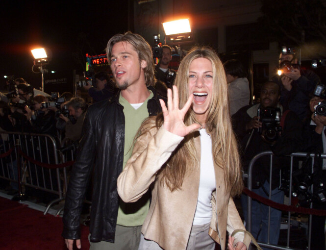 MANGE RYKTER: Selv om det er 15 år siden ekteskapet mellom Brad og Jennifer tok slutt skaper de fremdeles mange overskrifter både sammen og hver for seg. Foto: NTB Scanpix