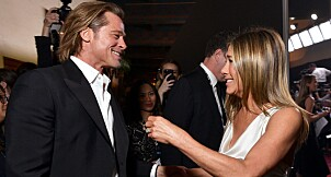 TOPSHOT - LOS ANGELES, CALIFORNIA - JANUARY 19: Brad Pitt and Jennifer Aniston attend the 26th Annual Screen ActorsGuild Awards at The Shrine Auditorium on January 19, 2020 in Los Angeles, California. 721313   Emma McIntyre/Getty Images for Turner/AFP (Photo by Emma McIntyre / GETTY IMAGES NORTH AMERICA / AFP)