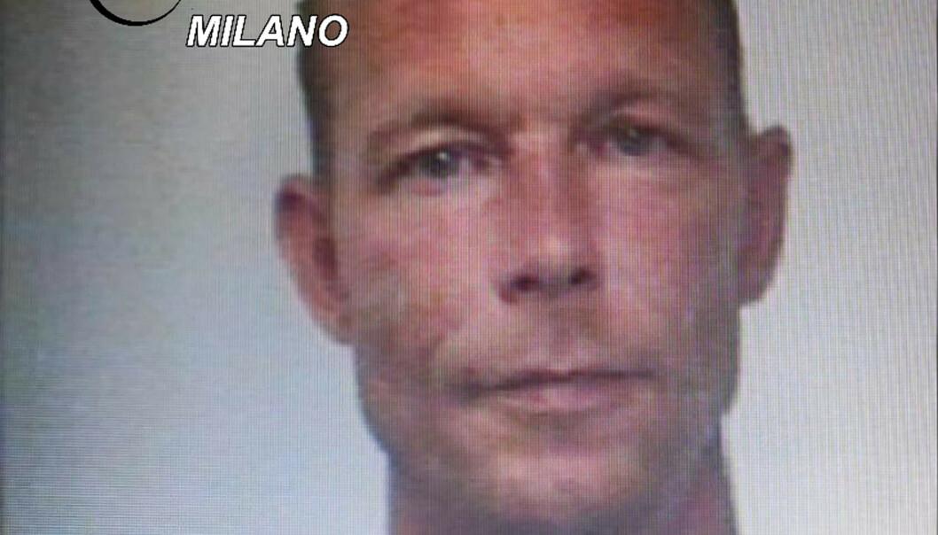 Italiensk politi har gitt ut dette bildet av Christian Brückner, som ble pågrepet i en narkotikasak i 2018. Foto: AP / NTB scanpix