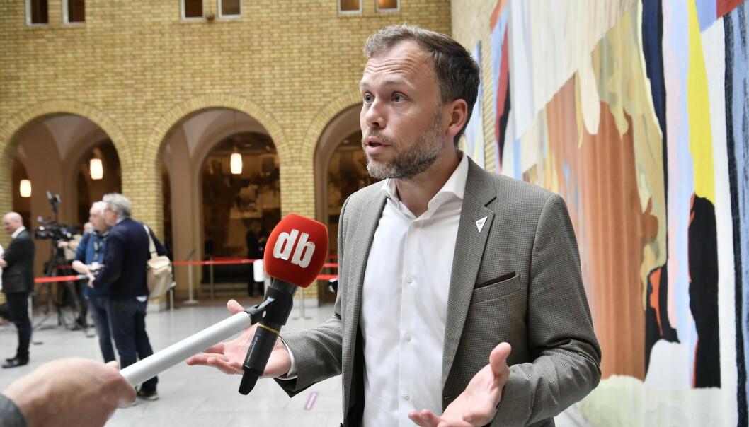 <strong>KRITISK:</strong> SV-leder Audun Lysbakken krever at Stortinget vurderer om Tangen kan tiltre. Foto: Lars Eivind Bones / Dagbladet