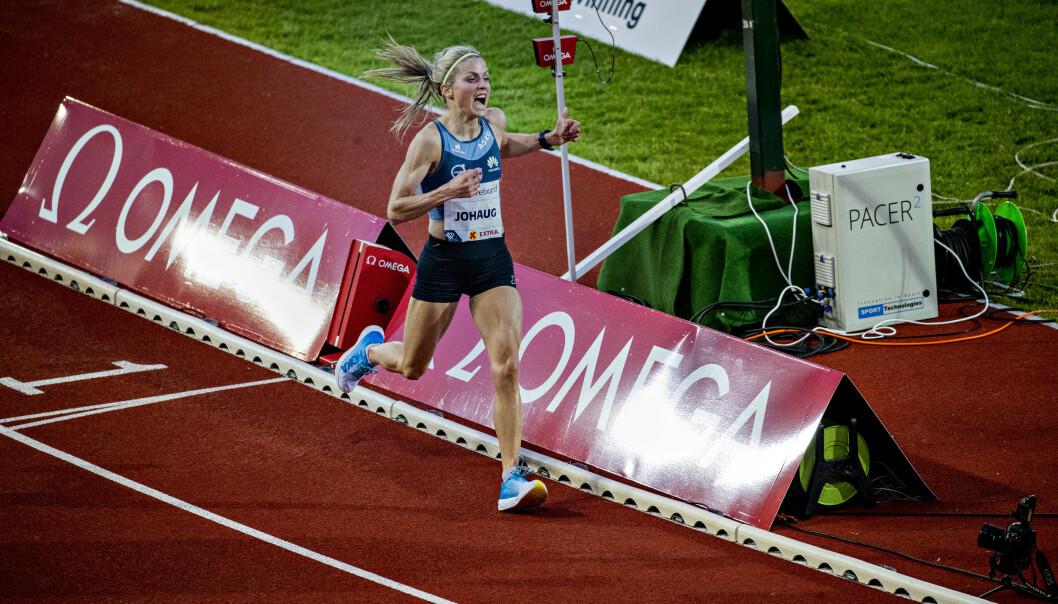 IMPONERTE: Therese Johaug slo VM-kravet med ti sekunder på10 000 m. Hun løp på 31.40,67 Foto: Bjørn Langsem / Dagbladet