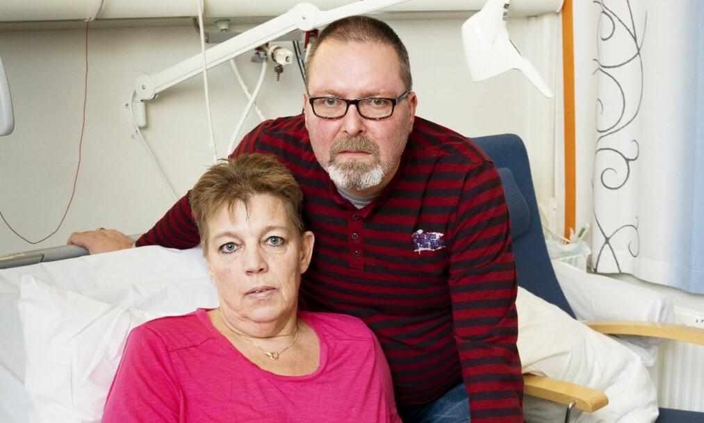 REDD: Rune fryktet å miste sin kjære Elin da hun fikk multiorgan-svikt mens hun lå på sykehuset. Foto: Espen Solli/Se og Hør