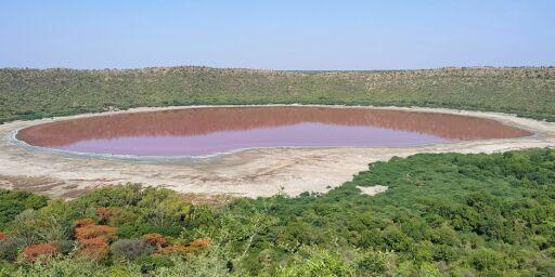 image: Rosa innsjø forbløffer