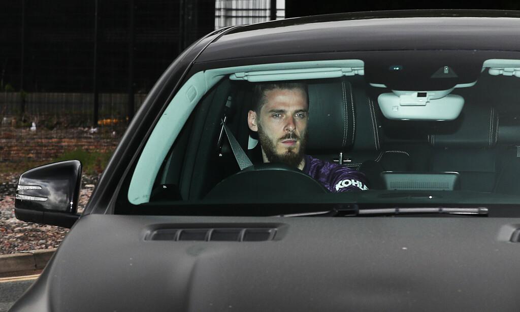 MATCHKLAR: Keeper David de Gea holder stø kurs mot Old Trafford for å spille kamp nummer to. Foto: NTB scanpix