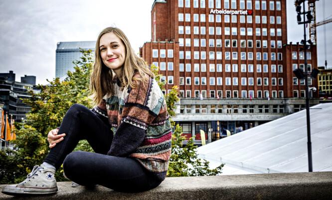 - STUDENTER: AUF-ledelsen består av en gjeng studenter, er Fellesforbundets dom. Her AUF-leder Ina Libak, som er utdannet sosionom. Foto: Nina Hansen / Dagbladet