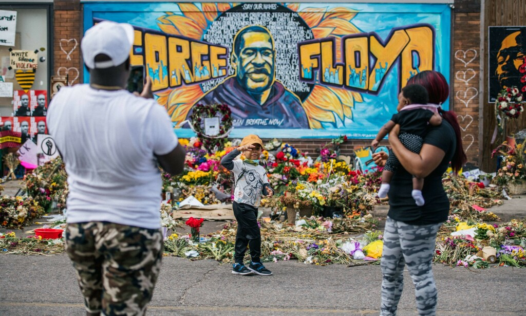 MINNEAPOLIS: 25. mai 2020 døde George Floyd etter en brutal pågripelse i Minneapolis. Foto: Brandon Bell/Getty Images/AFP