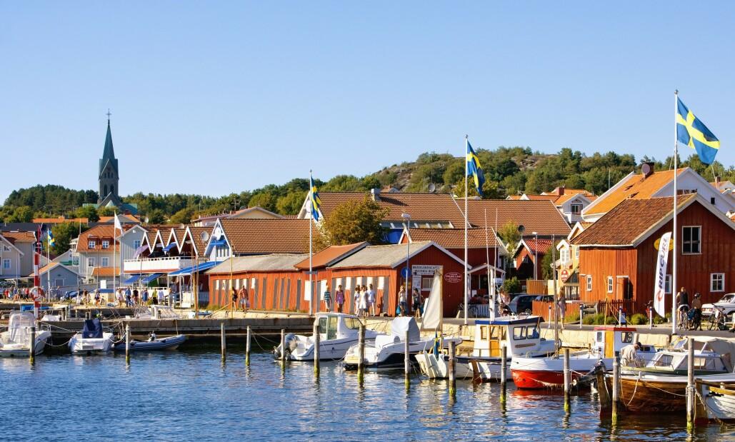 <strong>I SORG:</strong> En rekke kommuner fortviler over grensenekten. Her det populære feriestedet Grebbestad. Foto: NTB Scanpix.