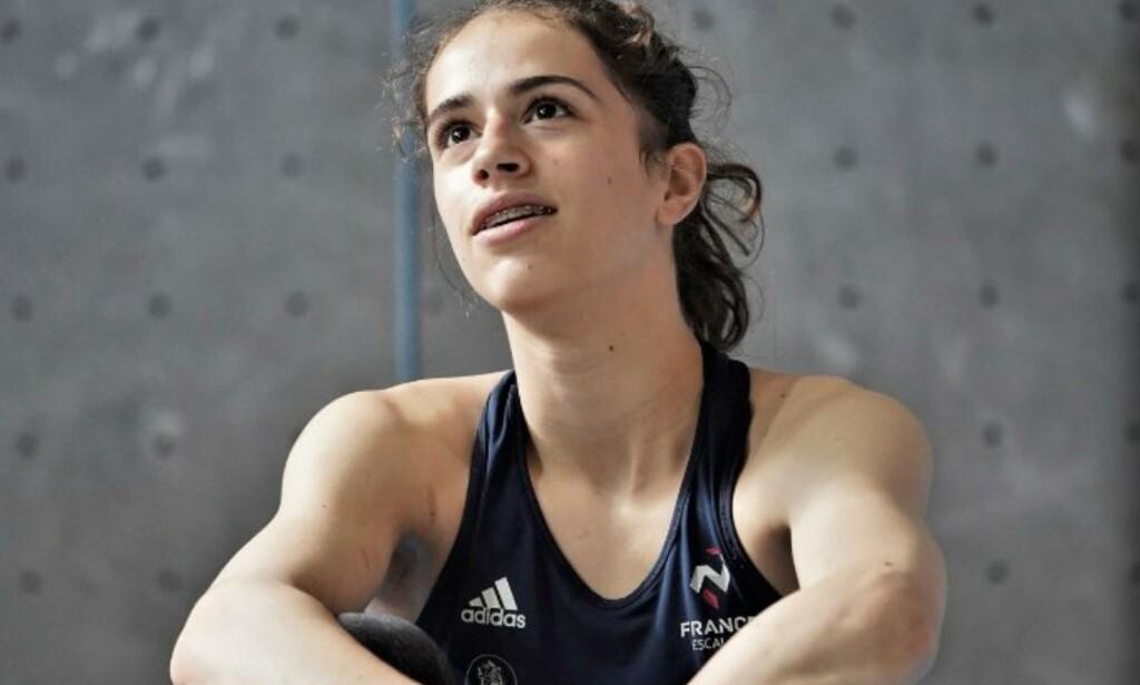 DØD: Den lovende klatreren Luce Douady. Foto: Det internasjonale klatreforbundet