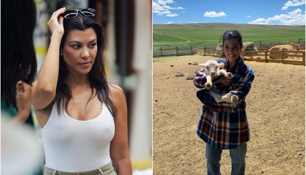 VEKKER OPPSIKT: Kourtney Kardashians Instagram-bilde har fått stor oppmerksomhet. Det er det én helt spesiell grunn til. Foto: NTB scanpix/ Instagram