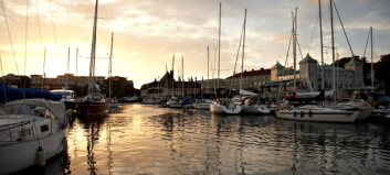 Strmstad, p havna i solnedgang. Foto: Anders Grnneberg