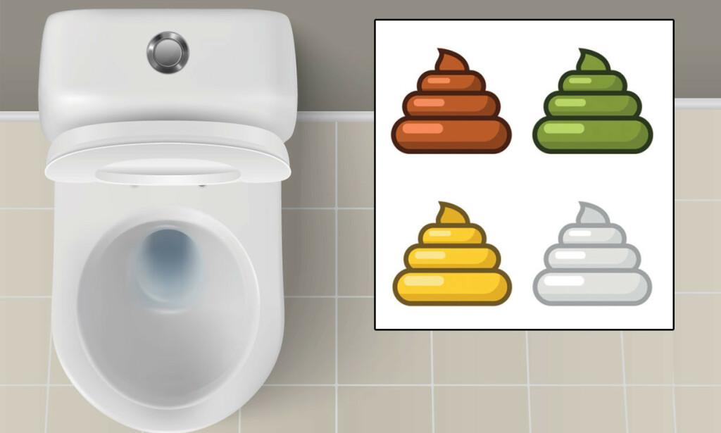 STOR VARIASJON I FARGE: Fargen på bæsj varierer, det er som regel normalt. Illustrasjon: NTB Scanpix/Shutterstock