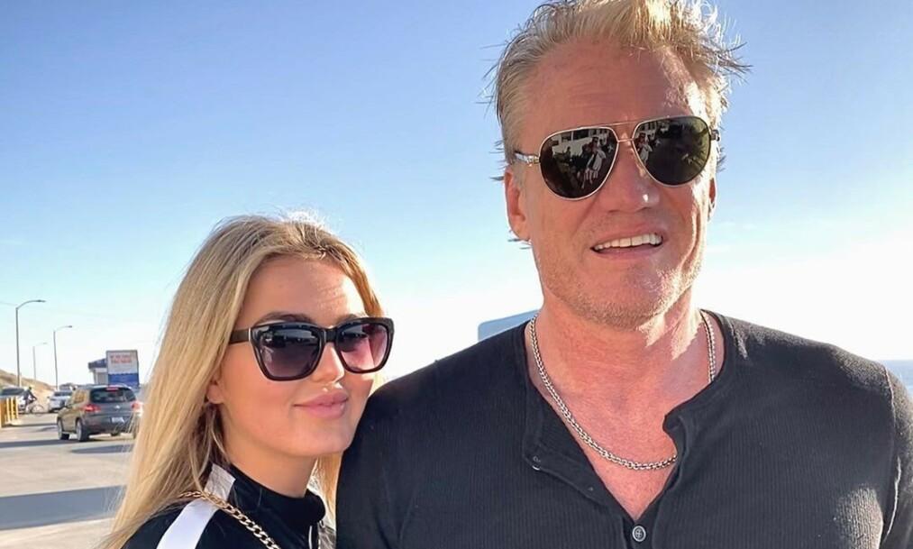 FORLOVET: Emma Krokdal og Dolph Lundgren har forlovet seg. Det avslører sistnevnte på Instagram. Foto: Privat