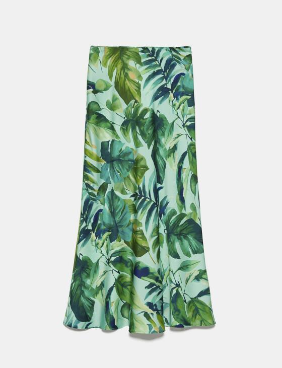 Palmemønstreteskjørt (kr 400, Zara).