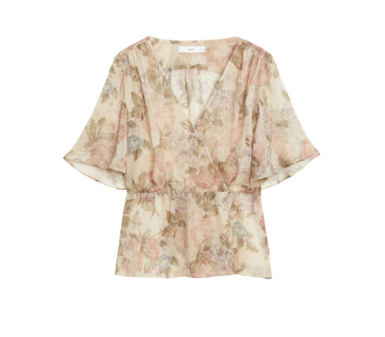Blomstrete bluse (kr 450, Mango).
