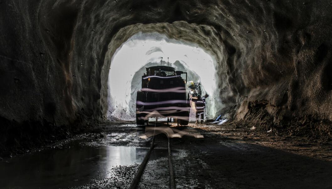 KAN HA FORÅRSAKET UTBRUDDET: Vedlikeholdsarbeid som ble utført i gruva i Malmerget i Gällivare kommune, kan ha vært starten på det store smitteutbruddet i Nors-Sverige. FOTO: TT / NTB Scanpix