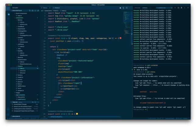 """Henrik Falck Mentzoni: """"Bruker VSCode, med Noctis Azureus og Fira Code."""""""