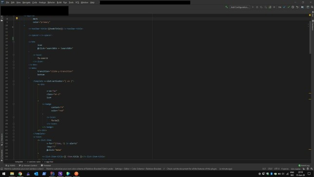 """Eirik Andreas Johansen: """"Kjører IntelliJ med VS Code Dark Theme og Rainbow Brackets."""""""