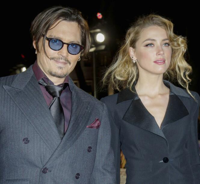KAOTISK: At skilsmissen mellom Amber Heard og Johnny Depp har vært turbulent er det ingen tvil om. Her avbildet i 2015. Foto: NTB Scanpix