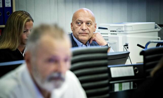 I RETTEN: Eirik Jensen og Gjermund Cappelen har sittet sammen i retten i over 200 rettsdager de siste tre åra. Fredag er siste dag de sitter sammen. Foto: Nina Hansen / Dagbladet