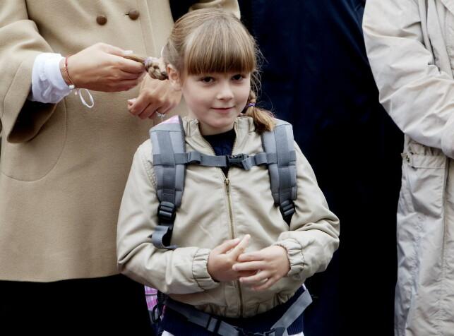 DEN GANG DA: Prinsesse Ingrid Alexandra fotografert da hun begynte på skolen i 2010. Foto: Stian Lysberg Solum / NTB Scanpix