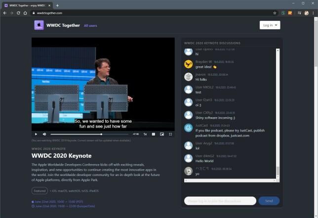 På WWDCtogether.com kan du se på presentasjonene sammen med andre, selv om dere ikke samles fysisk.