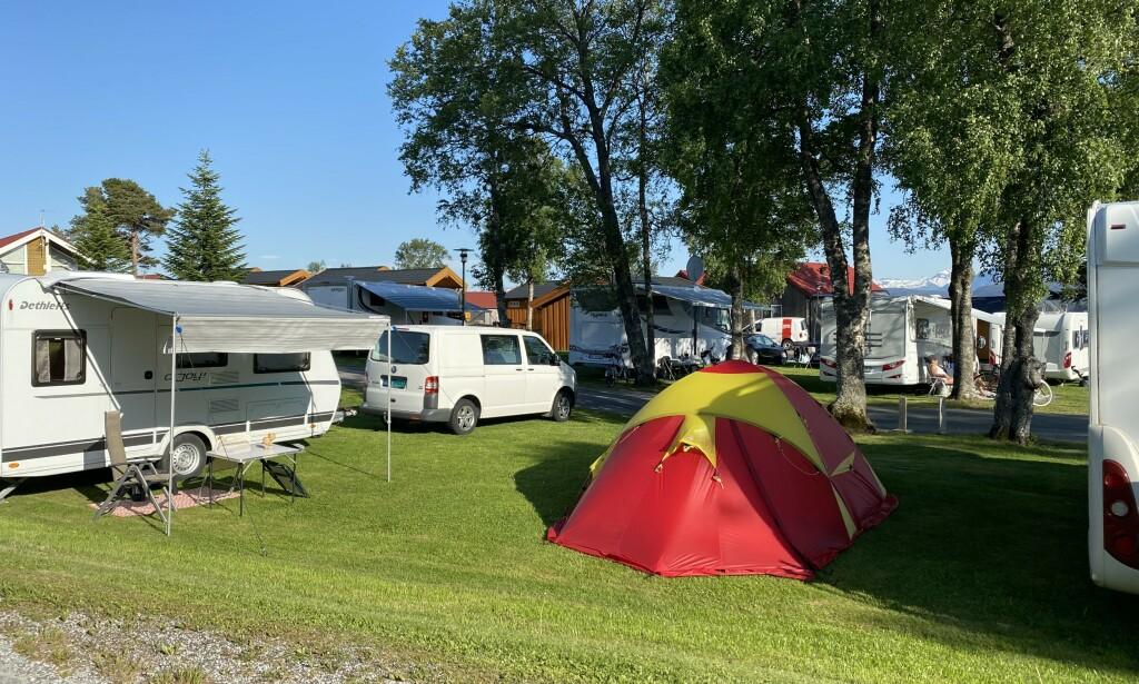 Trangt om plassen: Mange campingplasser ser ut til å få rekordbesøk i sommer. Foto: Odd Roar Lange/The Travel Inspector