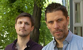 LAGER PODKAST: Journalistene Sindre Leganger (t.v.) og Kjetil Østli. Foto: Ingvild Grane / Fabel